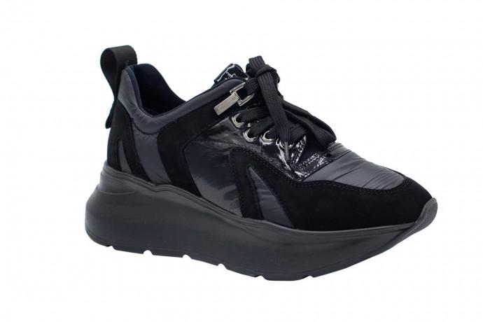 Массивные кроссовки из замши и ткани Paciotti 4 us
